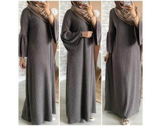 "Robe maille ""Mounia"" Taupe"