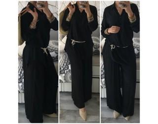 """Pantalon """"Fluide"""" Noir"""