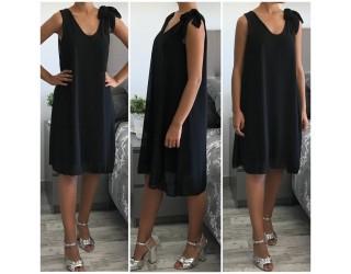 """Robe tunique """"Noeud"""" Noir"""