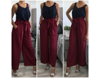 "Pantalon ""Venisia"" bordeaux"