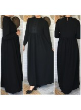 "Robe ""Amal"" Noir Ref :1456"