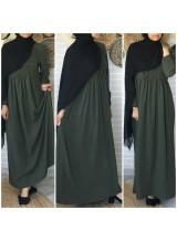 """Robe """"Amal"""" Kaki Ref :1456"""
