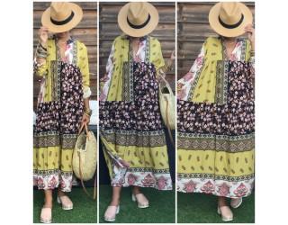 "Tunique Robe ""Enjoy"" Moutarde"