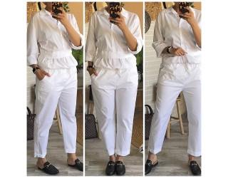 """Pantalon """"Toile"""" Blanc"""