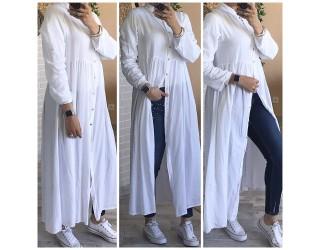 """Robe chemise """"Tahina"""" Blanc"""
