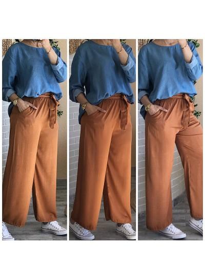 "Pantalon ""Fluide"" Camel"