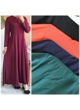 """Robe longue """"Livia"""" Bordeaux"""