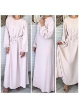 "Robe longue ""Basic"" Beige"