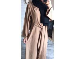 """Robe nouée """"Moda"""" Camel"""