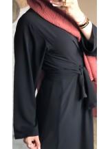 """Robe nouée """"Moda"""" Noir"""