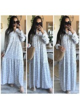 "Robe longue ""Summer"" Blanc"