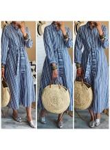 "Robe tunique ""Rayé"" Bleu"
