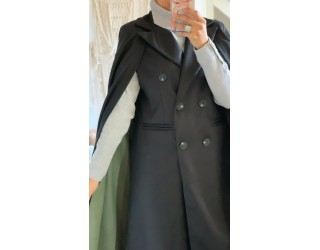 "Manteau ""Cape"" Noir"