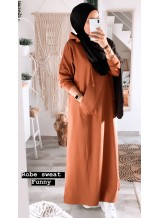 "Robe sweat ""Funny"" Camel"