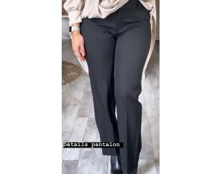 """Pantalon """"Droit"""" Noir"""