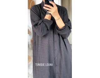 """Tunique chemise  """"Louna"""" Noir"""