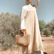 ▪️Outfit of the day ...▪️ La tenue ou je me sens le mieux le mastour y a que ça de vrai ... al hamdoullah  D'ailleurs les filles je suis en vacances et je reprends que début septembre incha allah en force 👊