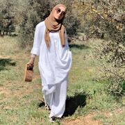 Ensemble Hanna @modeetmastour  Sac @maison_neyabeauty  Foulard @modeetmastour  Mules Marrakech
